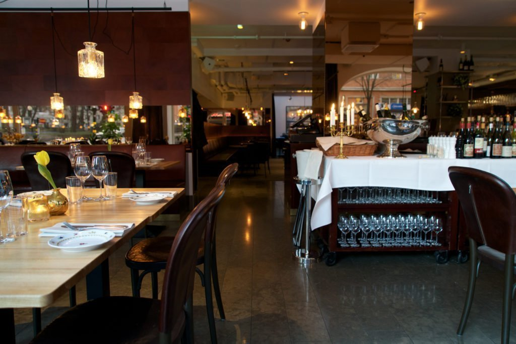 The restaurant of Miss Clara Hotel