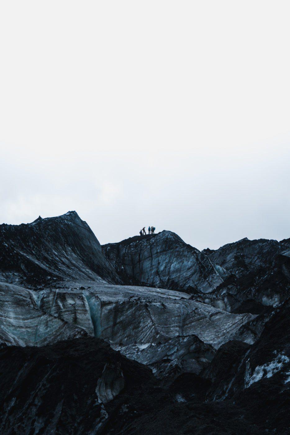 On top of Solheimajökull