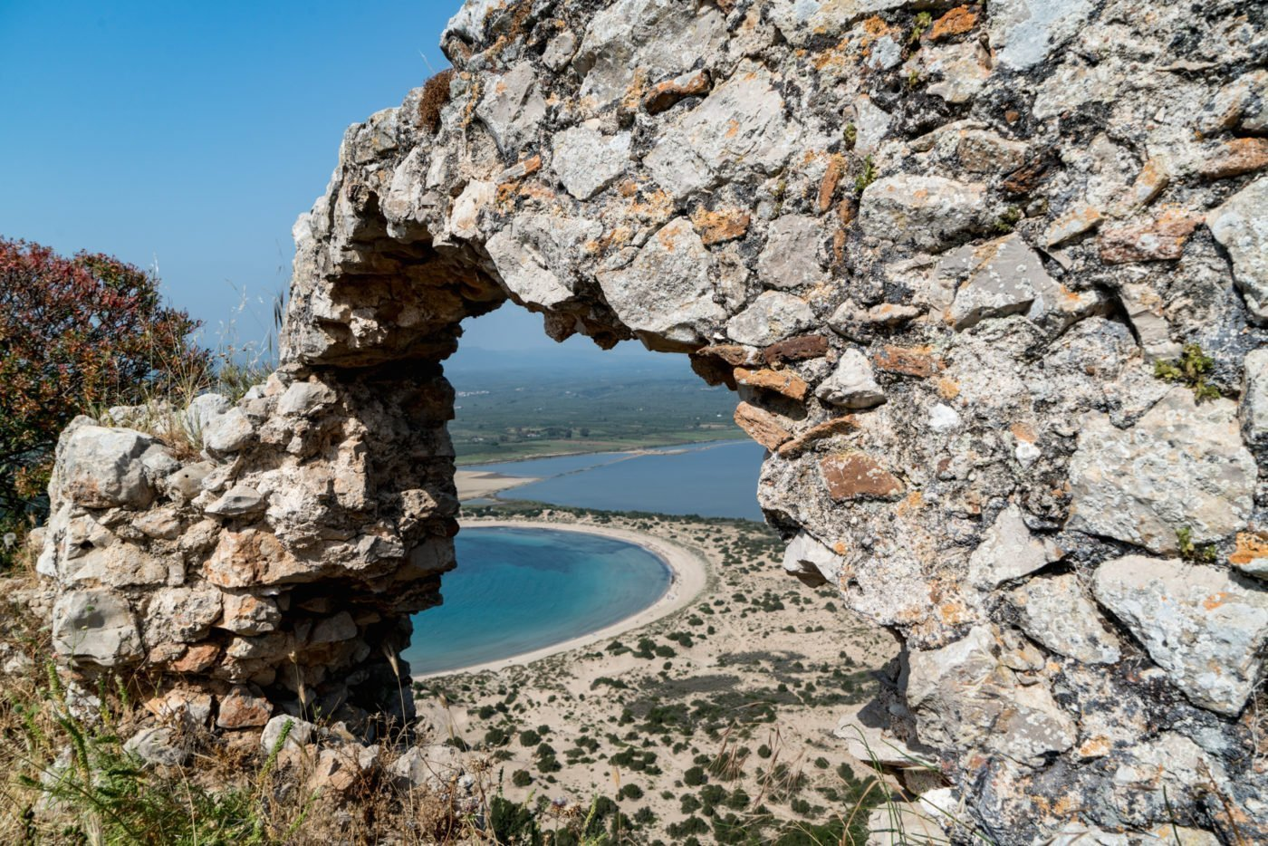 Voidikilia beach or Omega Beach in Greece