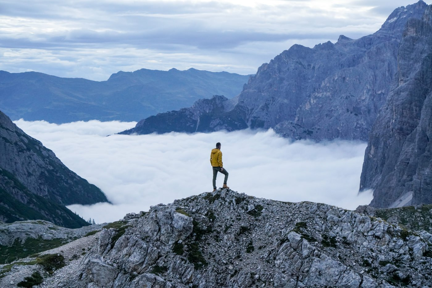 Near Tre Cime, Drei Zinnen in the Dolomites