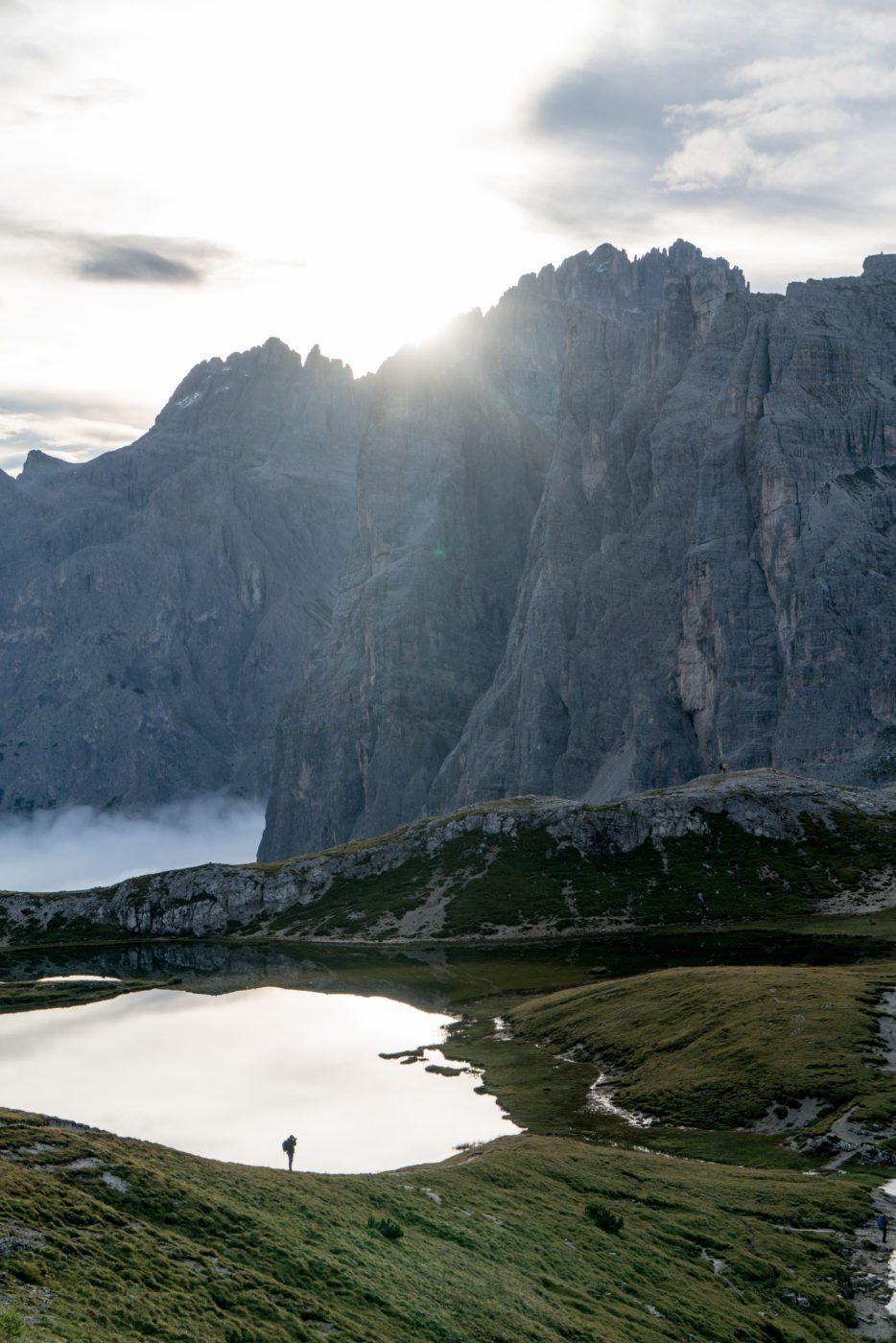Lake near Drei Zinnen, Tre Cime, Dolomiti