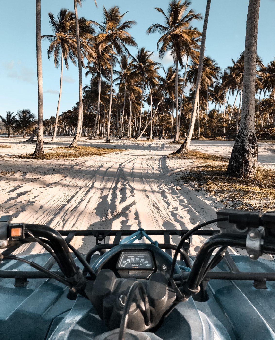 Riding an ATV in Las Galeras, the Dominican Republic