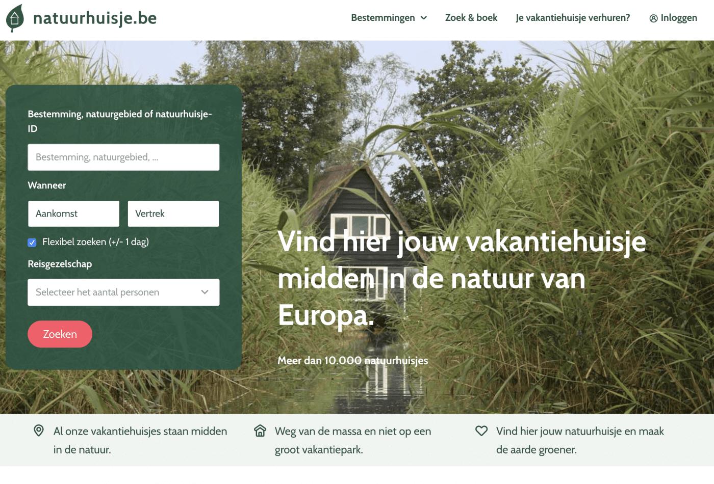 Een huisje huren in Europa met Natuurhuisje